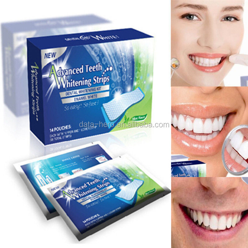 New Style Deep Cleaning non peroxide Bright White Teeth Whitening Strips