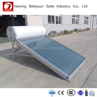 compact 100L flat plate solar water heater, High quality Solar Water Heater Calentador de agua solar for Europe Mexico Africa Ma