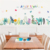 Home Decorative Removable grass,flower wall border sticker for room decoration
