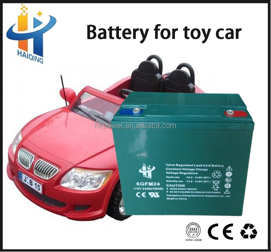 China manufacture 12v 24ah sealed lead acid electric toy car battery