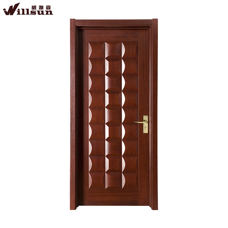 Flat nature teak wood main door designs and wood room gate for Designs for main door of flat