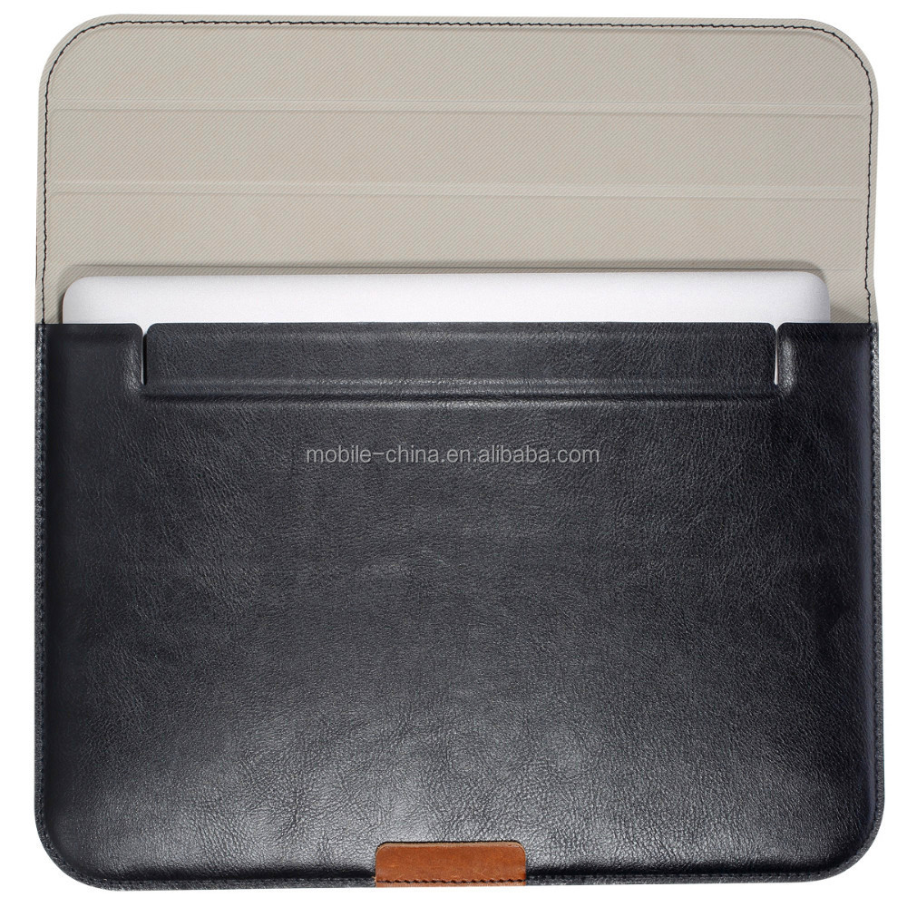 Premium Quality PU Leather Laptop Zipped Sleeve Case Cover For Macbook pro