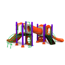 Children play game equipment outdoor playground, slides for sale