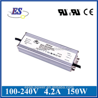 150W 4200mA 36V AC-DC Constant Current / Constant Voltage LED Driver Power Supply with UL CUL CE IP67