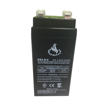maintenance free 4v sealed lead acid 4ah vrla rechargeable battery