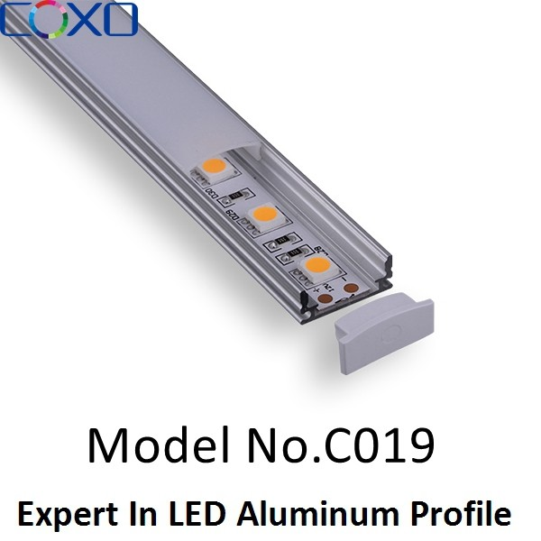 6063 Aluminum Alloy T5 T8 Anodized Led Aluminum profiles