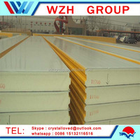 low price PU/EPS/polyurethane/rock wool/glass wool sandwich panel from china supplier