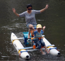 most popular water bike with inflatable ponton