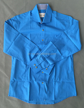 Long Sleeves dress shirt blue corner shirt designs for men
