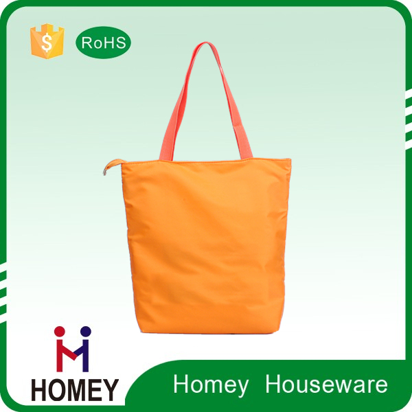 Factory Custom Good Quality Wholesale Carry Reusable Nylon Shopping Bag , Handled Shopping Bag