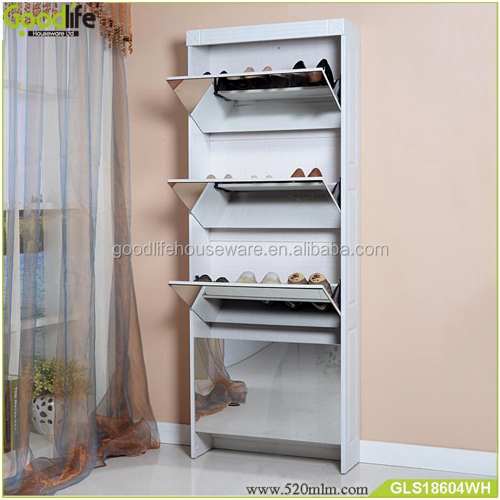 GLS18604mirror shoe cabinet-4
