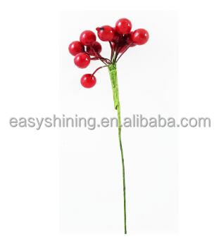 Discount Christmas Artificial Christmas berry pick for decoration handmade factory sale ESH0012B