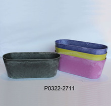 Different size rectangle plastic planter trays