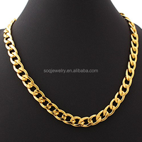 Men Necklace Hiphop Stainless Steel Gold Neck Chain Designs