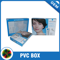 Printing Cosmetics Packaging Box Clear Plastic Boxes for Skin Care Products