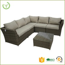 L shape outdoor rattan garden furniture uk
