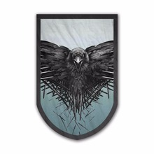 Wholesale Custom Decor Game of Thrones Three-eyed Crow Celebrities Banner Fabric Tapestry Round House Flags