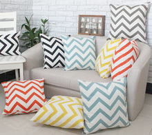 Wholoesale 100% cotton chevron custom printed decorative cushion