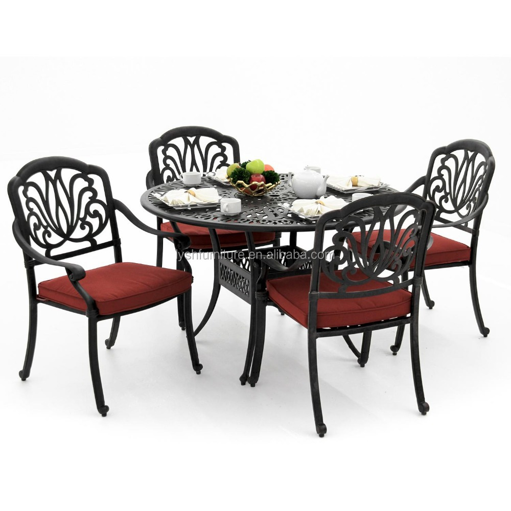 outdoor 5 Piece Cast Aluminum Patio Dining Set metal furniture garden