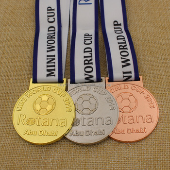 2016 Promotion Custom Mini World Cup Soccer Medals