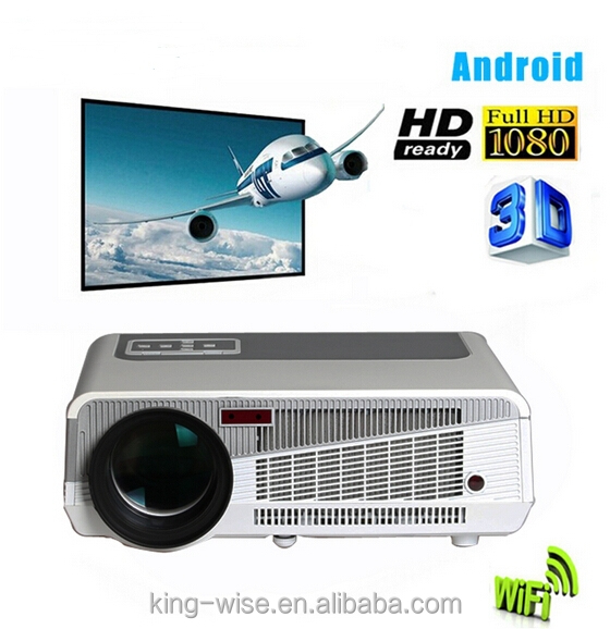 Full hd 3D wifi Android 4500lumens digital high resolution <strong>projector</strong>