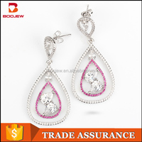 Indian fashion jewelry top designs beautiful cz earring for women with low price