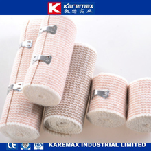 Karemax Highly Extensible Manufacture Surgical Rubber Elastic Bandage with Clips