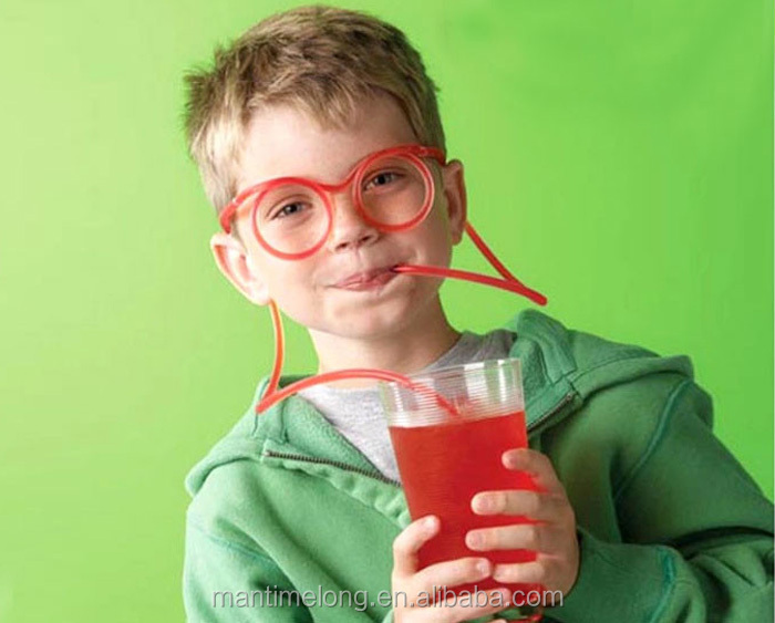 Crazy Straw Novelty Items Multi-colors glasses Drinking Tube drinking straw plastic drinking straw