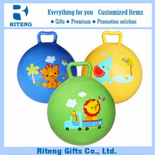 low price funny kids jumping ball with handle