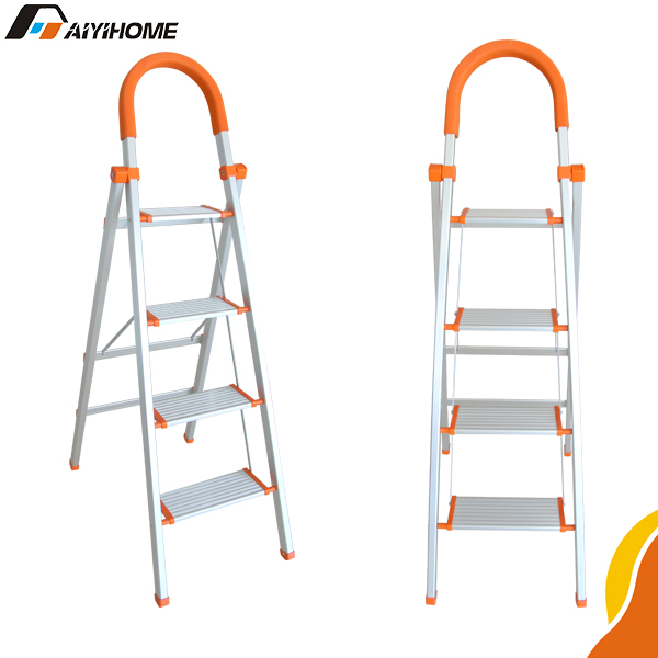 Tread aluminium foldable stepladders ,safty design