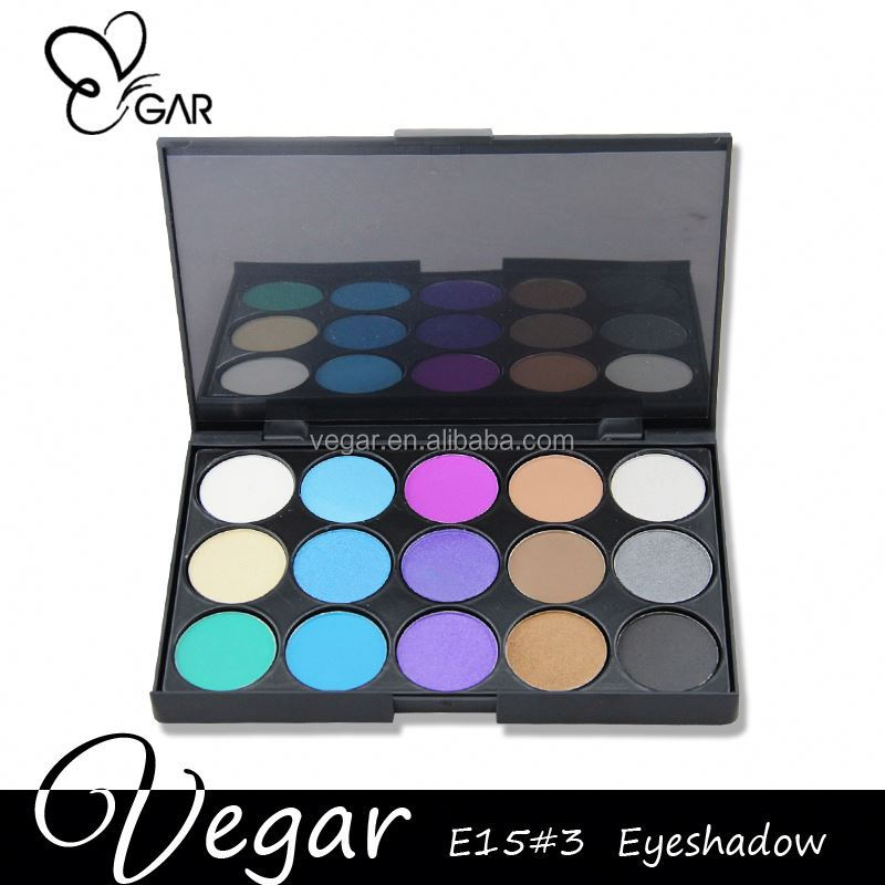 mixed palettes OEM make up eyeshadow palette 15 colors