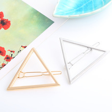 Exaggerated triangular moon hairpin geometry modeling hair clip accessories