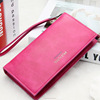 classic slim three fold pu wallet with handle large containment for women