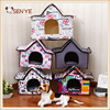 2016 Wholesale Cute Indoor Small Dog Colorful Steeple Insulated Dog House