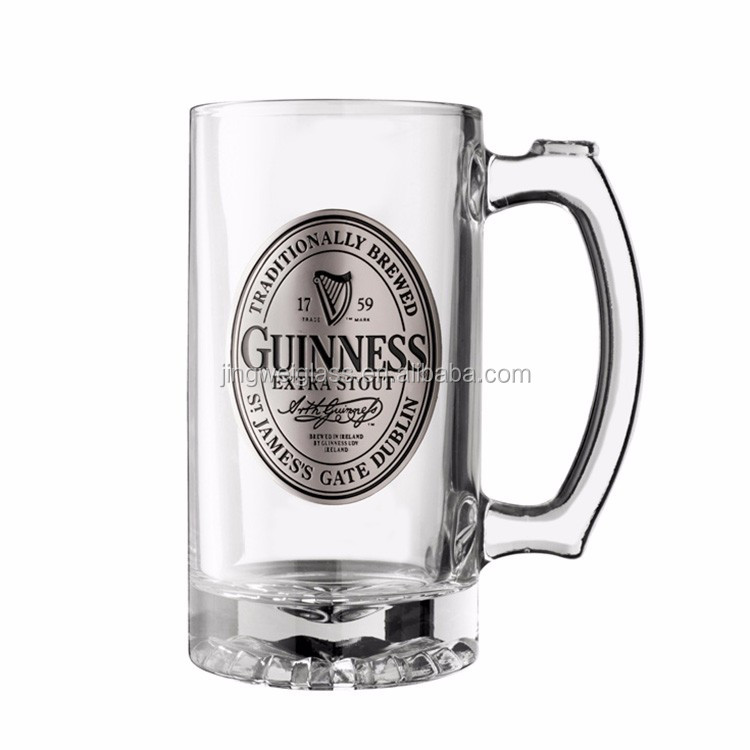 Wholesale Cheap Clear Beer Glass Mug With Handle/Beer Stein Glass