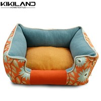 New arrival china supplier canvas fabric handmade indoor dog house bed