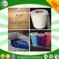Plastic film poly back sheet for sanitary towel