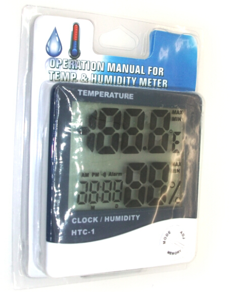HTC-1 Digital Large LCD Temperature Humidity Thermometer