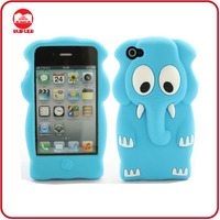 Fancy Animal Shaped Soft 3D Elephant Silicone Case for iphone 4 4s