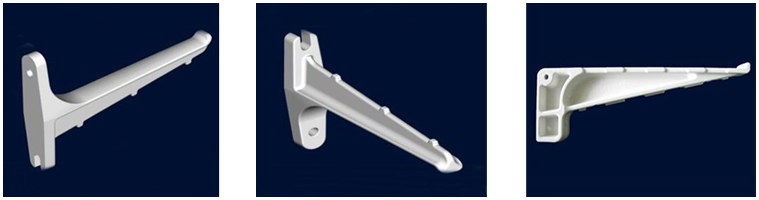 High strength SMC cable bracket for cable laying