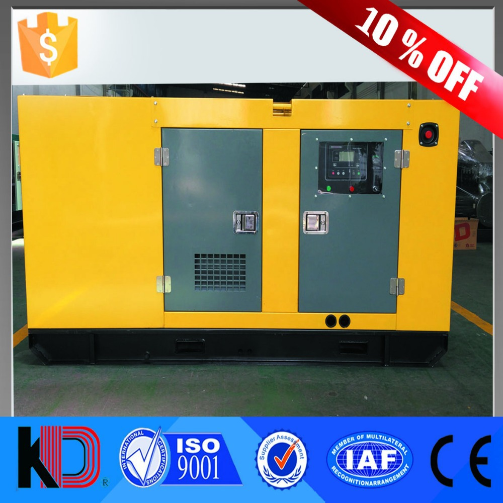 Stable and Reliable Quality Water Cooled Less Fuel Consumption 24kw 30kva Silent Diesel Motor Generator with Cummins Engine
