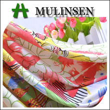 Mulinsen Textile Super Stretch Poly 100D FDY Spandex Printed Floral Design Jacquard Fabric For Underwear And Lining
