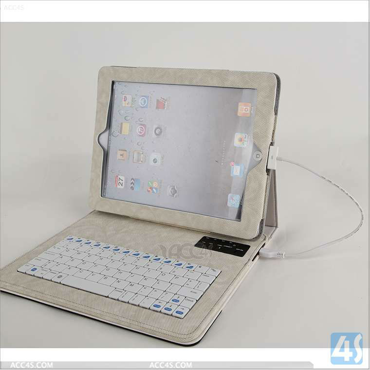 Removable Keyboard, Case and Stand For iPad 4 with Retina Display, iPad 3 and iPad 2 P-BLUETOOTHKB033