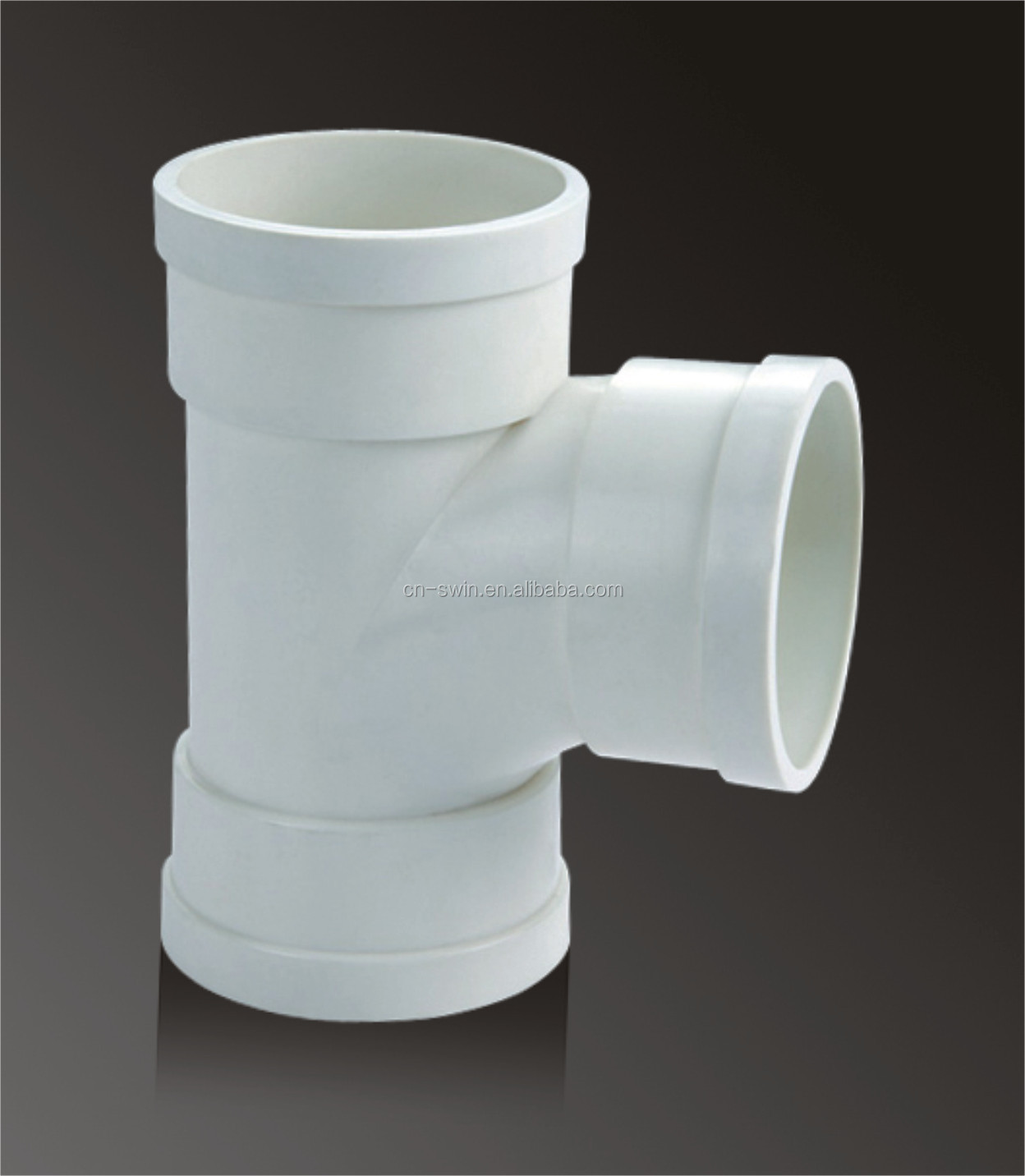 high end pressure resistance 2 inch - 8inch PVC tee fittings / pvc pipe and fitting with good price