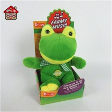 china superior quality green stuffed frog plush animal toy