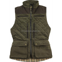 Winter country silent men quilted hunting vest