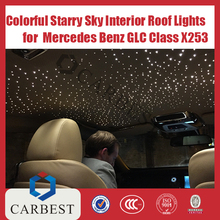 High Quality Colorful Starry Sky 12V LED For Cars Interior Roof Lights For Mercedes Benz GLC Class X253