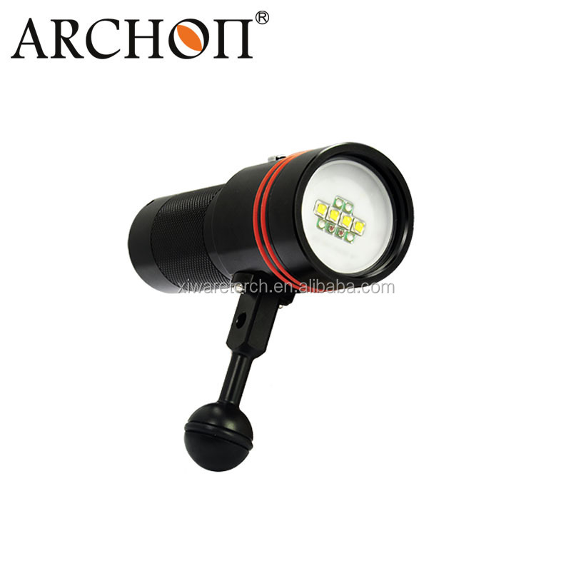 Archon W40V Diving Underwater Red UV Video Flashlight 2600lm underwater