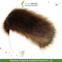 New Ladies Faux Fake Fur Hat HeadBand Winter Earwarmer Christmas Fox Hat Brown