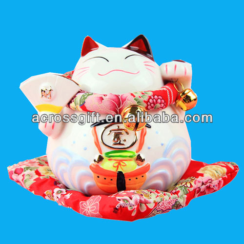 Decal ceramic fortune cat